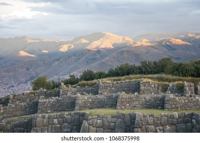The Inca site Sacsayhuaman with the city of Cuzco in the background (Peru)
