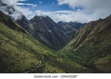 Inca Trail route to Machu Picchu - Peru