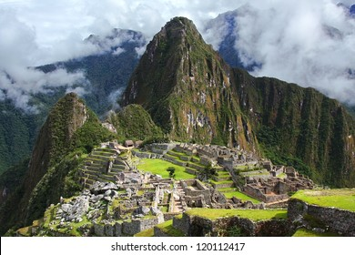 The Incan ruins of Machu Picchu in Peru