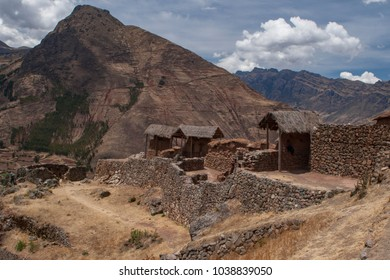 Incan Ruins and the Valley in Pisac, Peru
