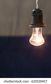 Incandescent lamp of old sample in working order