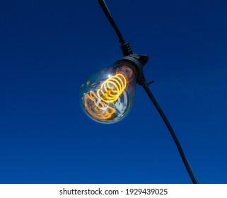 Incandescent Lamp on the fresh air lightning