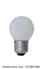 Incandescent lamp with opaque glass bulb and E27 europe socket. Old standard of consumption obsolete and prohibited by current regulations.