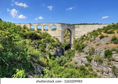 Incekaya Aqueduct (Tokatli Canyon) in Safranbolu, Karabuk, Turkey
