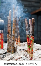 incence sticks in a temple in china.