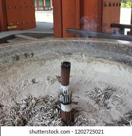 An Incense burner at the Yakushiji temple in Japan
