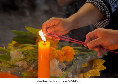 incense and candle