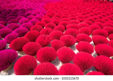 Incense sticks drying outdoor in north of Vietnam