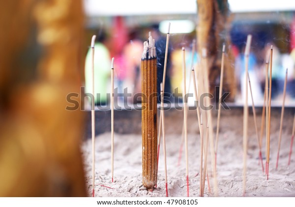 Incense Sticks Used Praying Stock Photo (Edit Now) 47908105