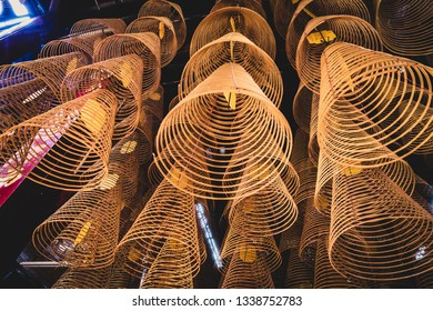 Incense in a temple, Vietnam