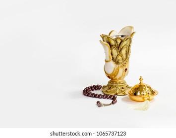 "incense vase with ""Masbaha"""