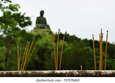The Incenses and the Big Bhudda Statue, Ngong Ping, Lantau, Hong Kong
