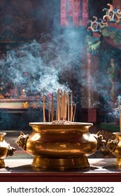 incenses in chinese temple