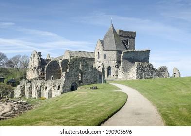 Inchcolm Abbey on the island of Inchcolm, Firth of Forth, Edinburgh, Scotland