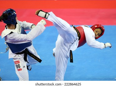 INCHEON - OCT 1:Rangsiya  NISAISOM of Thailand in action during the 2014 Incheon Asian Games at Ganghwa Dolmens Gymnasium on October 1, 2014 in Incheon, South Korea.