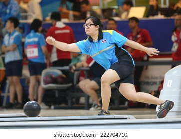 INCHEON - SEP 24:Angkana Netrviseth of Thailand participates in 2014 Incheon Asian Games at Anyang Hogye Gymnasium on September 24, 2014 in Incheon, South Korea.