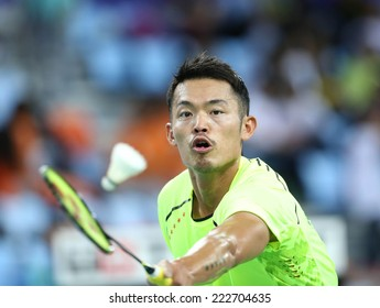 INCHEON - SEP 25:LIN Dan of China participates in 2014 Incheon Asian Games at Gyeyang Gymnasium on September 25, 2014 in Incheon, South Korea.