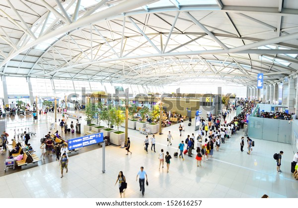 INCHEON, SOUTH KOREA - AUGUST 24 : The Incheon International Airport is the largest airport in South Korea, the primary airport serving the Seoul National Capital Area, on August 24 2013 in Seoul