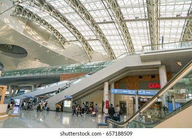 INCHEON, SOUTH KOREA - CIRCA JUNE, 2017: inside Incheon International Airport.