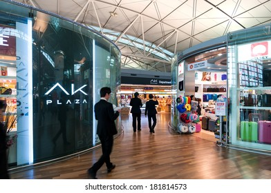 INCHEON, SOUTH KOREA - JANUARY 30: Travelers pass through the duty free shops in Incheon Airport on January 30, 2014 in Incheon, South Korea.