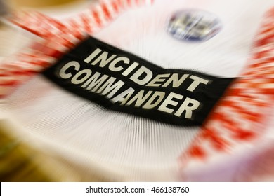 Incident commander vest who charge at any natural or man made disaster or major accident