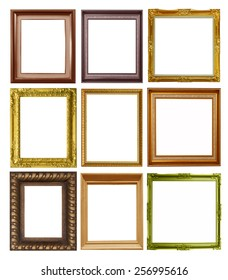 Included a picture frame isolated on white background.