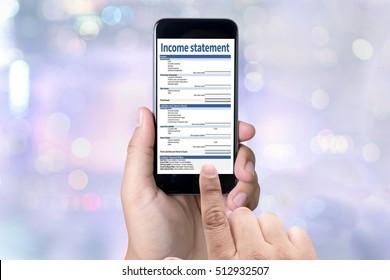 Income Statement Employment Businessman Assessment Balance