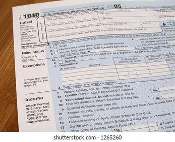 Income tax form 1040