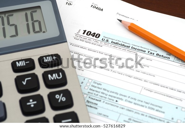 form 1040 business  Income Taxes Tax Form 8 Business Stock Photo (Edit Now ...