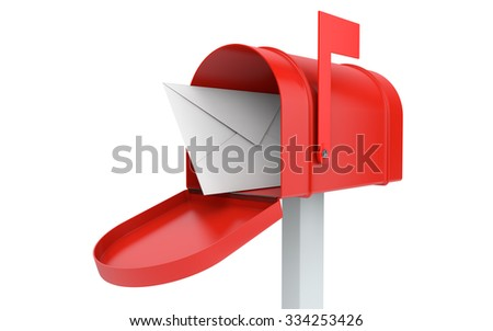 Incoming Mail Mailbox Letter Isolated On Stock Photo Edit Now