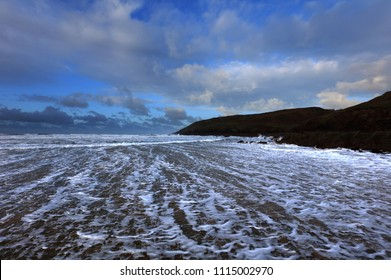 Incoming Tide at Freshwater West, Pembrokeshire, Wales