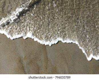 Incoming wave at beach