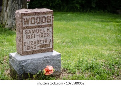 incomplete headstone in cemetery - landscape