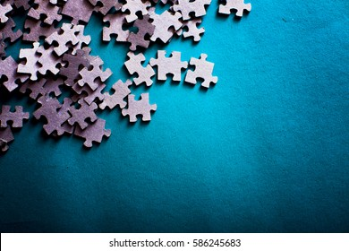 Incomplete puzzles. jigsaw puzzle