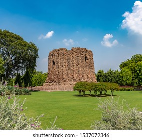 Incomplete Structure of ALAI MINAR .The construction of this monument was planned by Sultan of Delhi Alauddin Khilji (of the Khilji Dynasty) inside the Qutab Minar Complex  .