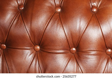 The increased structure of a leather sofa