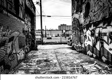 Incredible artwork in Graffiti Alley, Baltimore, Maryland.