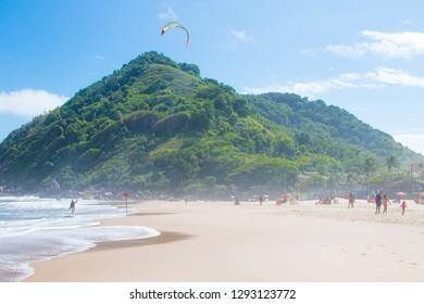 Incredible beach in the paulista coast in Brazil, Guarujá, Ilhabela, Maresias