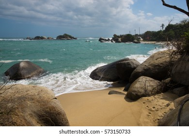 Incredible beach in Tayrona National Park in Colombia
