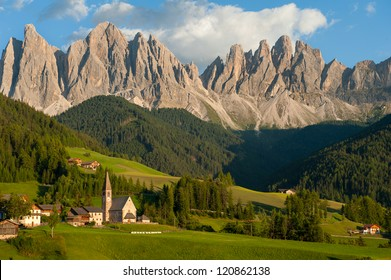 The incredible Dolomite mountains near Santa Maddalena, Italy