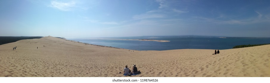 Incredible Dune of Pilat (Grande Dune du Pilat), the tallest sand dune in Europe.