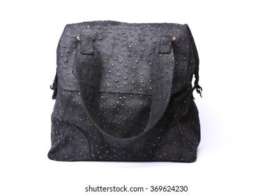 Incredible female handbag made of leather