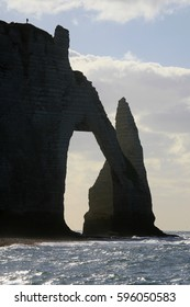 Incredible, iconic and beautiful chalk cliffs of Etretat, France