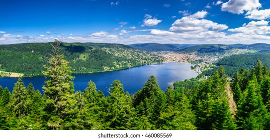 Incredible nature around Gerardmer lake in Vosges mountains, Lorraine, France
