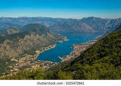 Incredible panoramic view of Kotor Bay, Montenegro