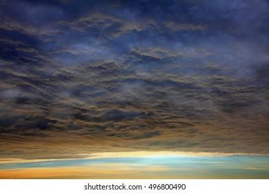 Incredible sky before typhoon comes