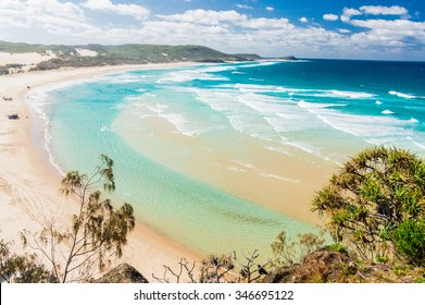 The incredible stretch of Fraser Island's sandy beach