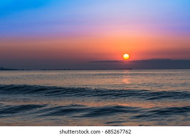 Incredible Sunrise on the beach