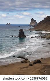 Incredible view of Beniho Beach. Tenerife. Canary Islands.Spain