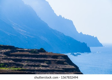 Incredible view of the coast near the village of Taganana. Tenerife. Canary Islands.Spain
